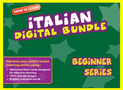 WINKtoLEARN Italian Digital Bundle - Beginner(Streaming Videos & Digital Flashcards)