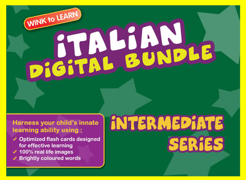 WINKtoLEARN Italian Digital Bundle - Intermediate (Streaming Videos & Digital Flashcards)