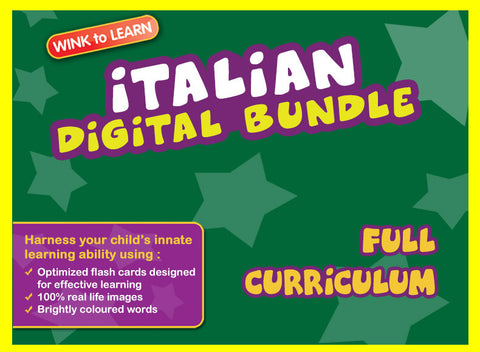WINKtoLEARN Italian Online Digital Bundle - Complete (Streaming Videos & Digital Flashcards)