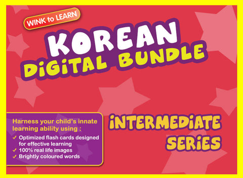 WINKtoLEARN Korean Digital Bundle - Intermediate (Streaming Videos & Digital Flashcards)