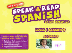 WINKtoLEARN Spanish (Mexican) Learning Digital Video Streaming Series - Level  1 - Lesson 4 - Actions - Front Cover
