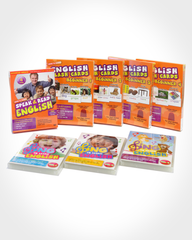 Learn English Flash Cards & DVDs Value Bundle