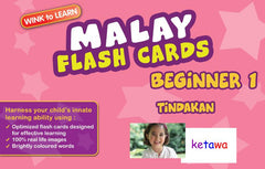 WINKtoLEARN Malay Digital Flash Cards -  Beginner  1 - Actions  (Free Trial Pack) - Front Cover