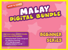 WINKtoLEARN Malay Digital Bundle - Beginner(Streaming Videos & Digital Flashcards)