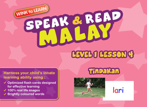 Speak & Read Malay FREE Online Digital Video - Level  1 - Lesson 4 - Actions