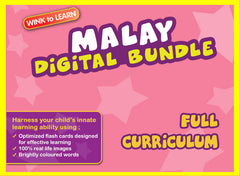 WINKtoLEARN Malay Online Digital Bundle - Complete (Streaming Videos & Digital Flashcards)
