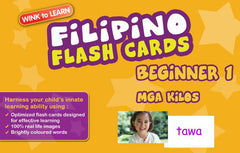 WINKtoLEARN Filipino Digital Flash Cards -  Beginner  1 - Actions  (Free Trial Pack) - Front Cover