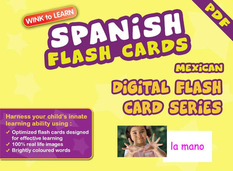WINK to LEARN Spanish (Mexican) Online Digital Flash Cards Series