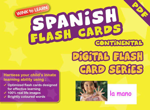 WINK to LEARN Spanish (Continental) Online Digital Flash Cards Series