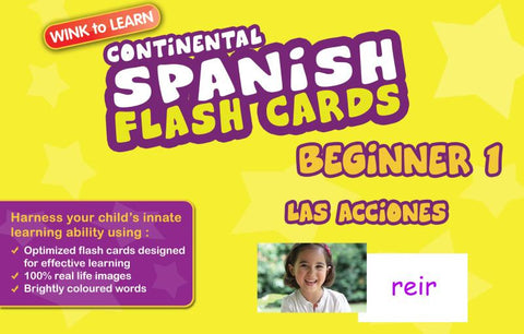 WINKtoLEARN Spanish (Continental) Digital Flash Cards -  Beginner  1 - Actions  (FREE Trial Pack)