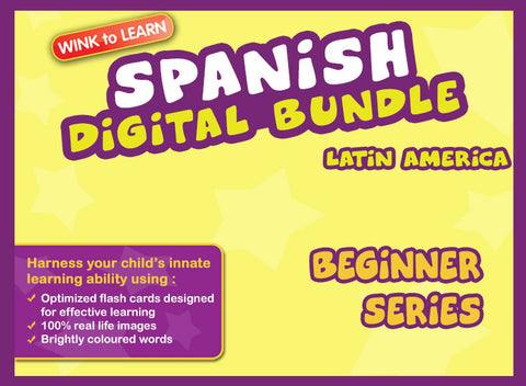 WINKtoLEARN Spanish (Mexican) Digital Bundle - Beginner (Streaming Videos & Digital Flashcards)