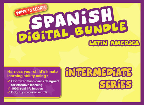 WINKtoLEARN Spanish (Mexican) Digital Bundle - Intermediate (Streaming Videos & Digital Flashcards)