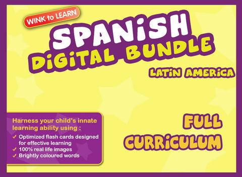 WINKtoLEARN Spanish (Mexican) Online Digital Bundle - Complete (Streaming Videos & Digital Flashcards)
