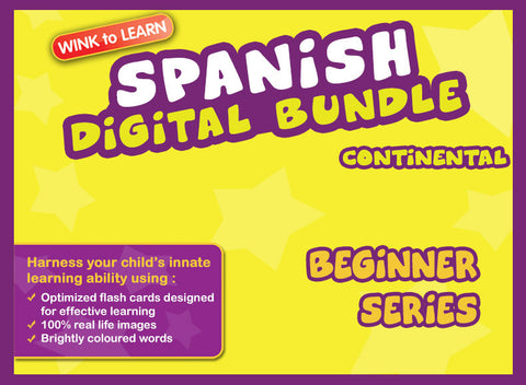 WINKtoLEARN Spanish (Continental) Digital Bundle - Beginner (Streaming Videos & Digital Flashcards)