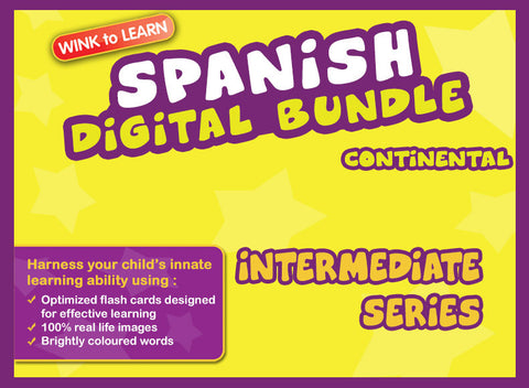 WINKtoLEARN Spanish (Continental) Digital Bundle - Intermediate (Streaming Videos & Digital Flashcards)
