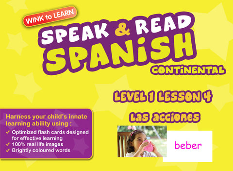 Speak & Read Spanish (Continental) FREE Online Digital Video - Level  1 - Lesson 4 - Actions