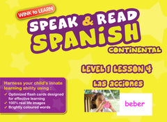 WINKtoLEARN Spanish (Continental) Learning Digital Video Streaming Series -  Level  1 - Lesson 4 - Actions - Front Cover