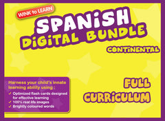 WINKtoLEARN Spanish (Continental) Online Digital Bundle - Complete (Streaming Videos & Digital Flashcards)
