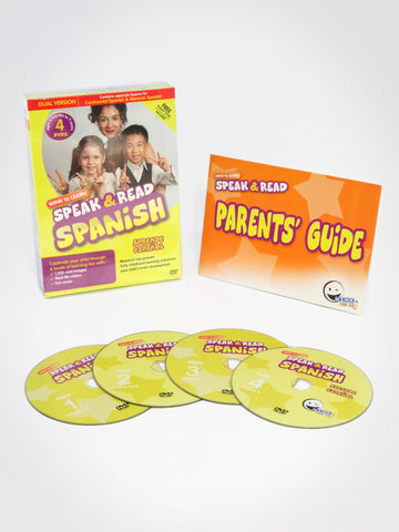 Speak & Read Spanish 4-DVDs (Continental & Mexican)