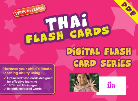 WINK to LEARN Thai Online Digital Flash Cards Series
