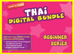 WINKtoLEARN Thai Digital Bundle - Beginner(Streaming Videos & Digital Flashcards)