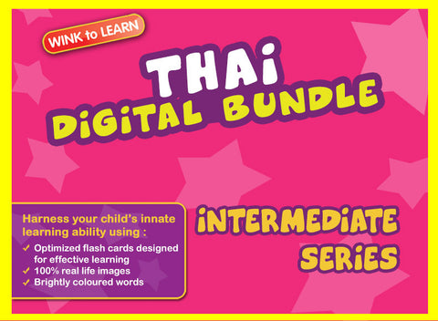 WINKtoLEARN Thai Digital Bundle - Intermediate (Streaming Videos & Digital Flashcards)