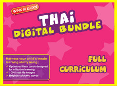 WINKtoLEARN Thai Digital Bundle-Complete (Streaming Videos & Digital Flashcards)
