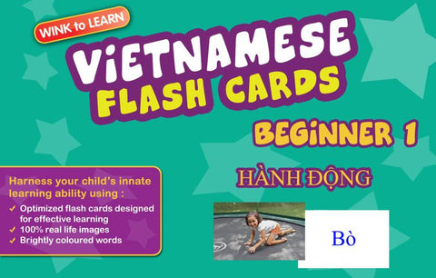 WINKtoLEARN Vietnamese Digital Flash Cards -  Beginner  1 - Actions  (FREE Trial Pack)