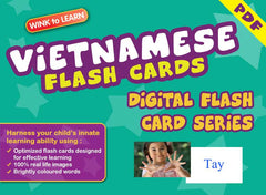 WINK to LEARN Vietnamese Online Digital Flash Cards Series