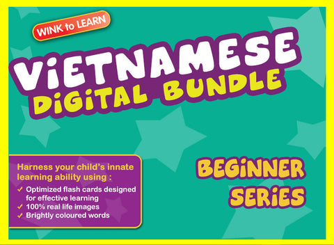 WINKtoLEARN Vietnamese Digital Bundle - Beginner (Streaming Videos & Digital Flashcards)