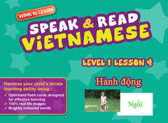WINKtoLEARN Vietnamese Learning Digital Video Streaming Series - Level  1 - Lesson 4 - Actions - Front Cover