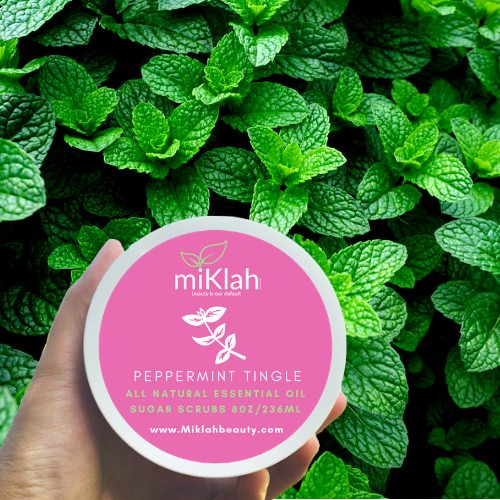 Peppermint Tingle Essential Oils Sugar Scrubs 8oz