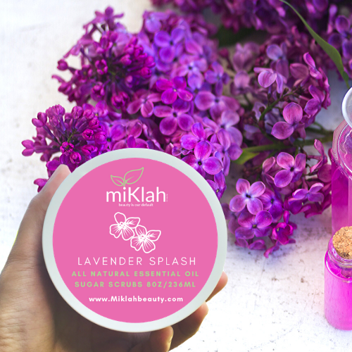 Lavender Splash Essential Oils Sugar Scrubs 8oz