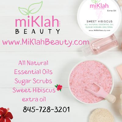 Essential Oils Sugar Scrub Sample: Sweet Hibiscus- Extra Oil