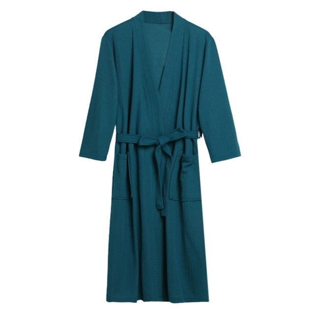 Waffle Cotton Breathable Robe
