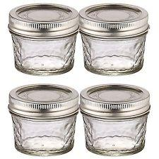 4 PACK BALL MASON QUILTED DESIGN PRESERVING JARS 135ML REGULAR MOUTH WITH RECIPE INSERT (8003) - 2tech ltd