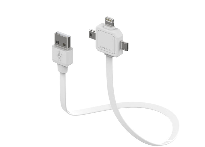 Allocacoc 3in1 USB Cable - Micro USB / Mini USB / Apple Lightning