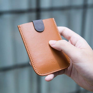 Allocacoc DAX Wallet - Real Leather - a slim wallet with a trick up its sleeve - Brown - 2tech ltd