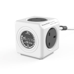 Allocacoc Powercube Extended Monitor 4-way 1.5m Wall Socket Adapter & Cost Calculator - 2tech ltd