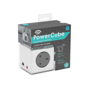 Allocacoc PowerCube Wifi Range Extender 4-way 1.5-meter Wall Socket Adapter (Trolley Grey) - 2tech ltd