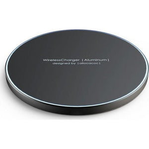 Allocacoc WirelessCharger |Aluminum| Super slim quick Wireless Charger (5w / 7.5w or 10w) - 2tech ltd