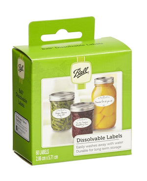 Ball Mason Jars Dissolvable Self-Adhesive Labels for Preserves Jars, Value Pack of 6 x 60 Labels - 2tech ltd