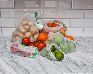 Carrinet Veggio 3 Pack Recycled Fruit & Vegetable bags, Display Carton of 27