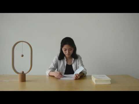 DesignNest by Allocacoc Heng Balance Lamp (ECLIPSE) - A unique lamp with switch in mid-air (LIGHT WOOD) (DH0037LW)