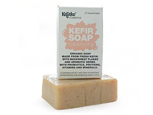 Kefirko Cosmetics Organic Probiotic Kefir Soap for Face and Body