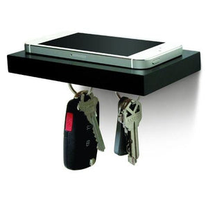 PLANK Wooden Floating Shelf with a Magnetic Underside for Mobile and Keys Storage - 2tech ltd