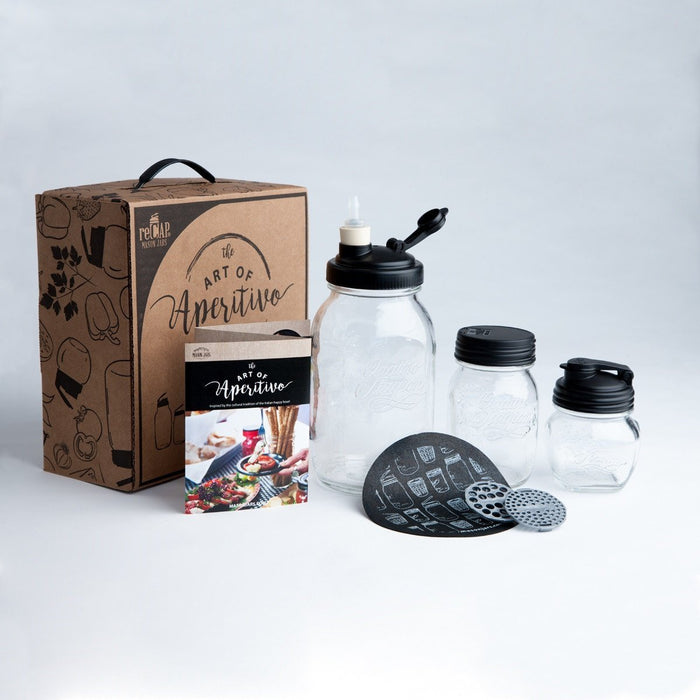 ReCAP Mason Jars The Art of Aperitivo: Italian Happy Hour Fermenting Gift Set