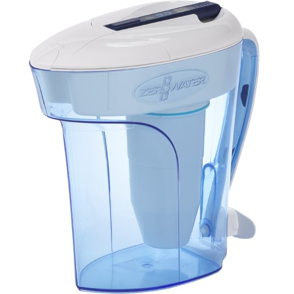 ZeroWater 12 Cup/ 2.8 ltr Ready Pour Water Filtration Pitcher with Free Digital TDS Meter