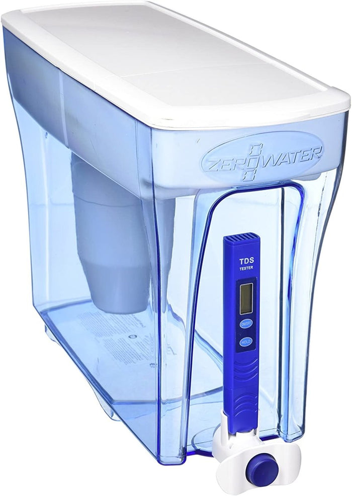 ZeroWater 30 Cup Water Dispenser With Advanced 5 Stage Filter + Water Quality Meter, 7.1 Litres