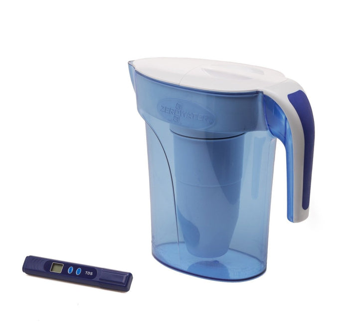 ZeroWater 7 Cup/1.66 litre Ready-Pour Water Filtration Pitcher with Free TDS Meter